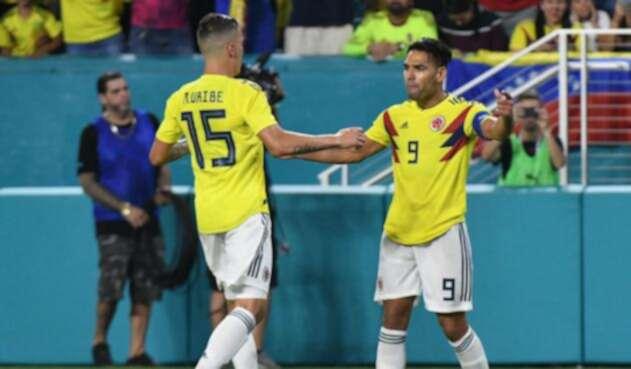 Mateus Uribe y Falcao García, jugadores de la Selección Colombia