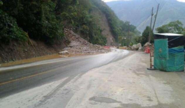 Cierre en vía Bogotá - Villavicencio
