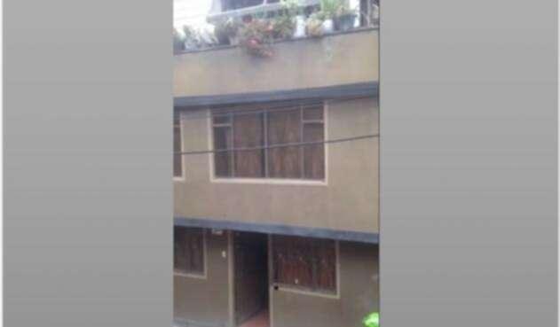 Vivienda donde ocurrió el accidente en Soacha.
