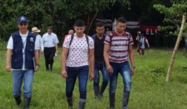 Soldados liberados en Arauca