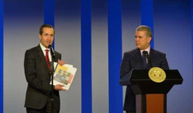 Vicepresidente del Banco Mundial y el presidente Iván Duque