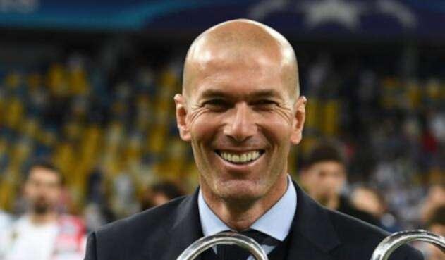 Zinedine Zidane, tricampeón de la Champions League con el Real Madrid