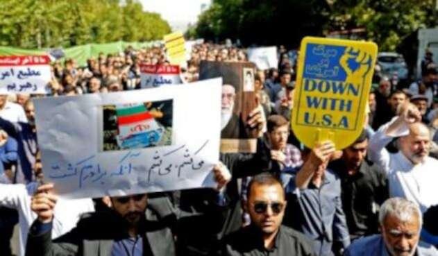 Irán protestas Estados Unidos