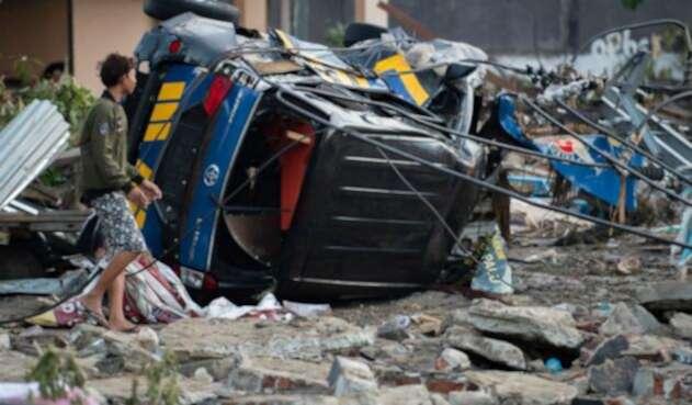 Terremoto y tsunami en Indonesia.