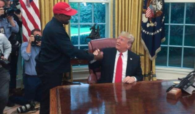 Kanye West y Donald Trump.