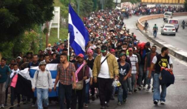 Caravana migrantes hondureños