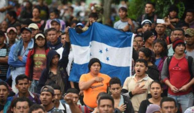 Migrantes hondureños.