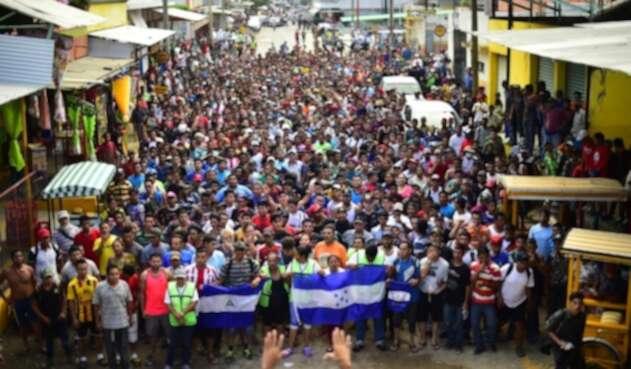 Caravana hondureños