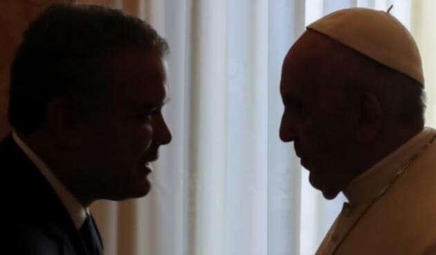 Iván Duque y el Papa Francisco