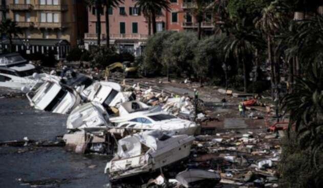Estragos de las lluvias en Italia.