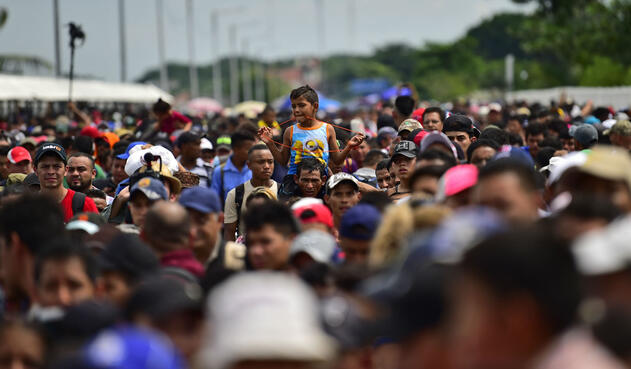 Caravana de migrantes hondureños hacia EE.UU.