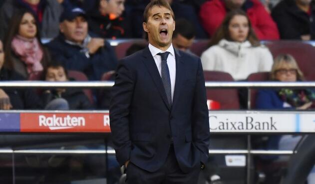 Julen Lopetegui, con futuro incierto en el Real Madrid tras el clásico ante Barcelona