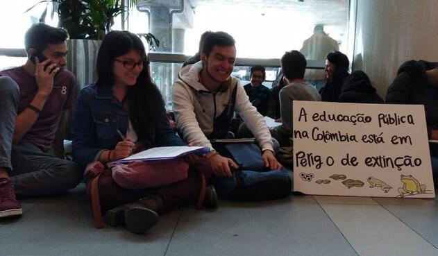 Con esta iniciativa los estudiantes buscan darle más notoriedad a la problemática de la educación pública