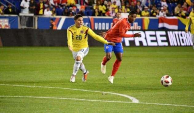Colombia tuvo el control del balón, pero Costa Rica se resguardó en defensa