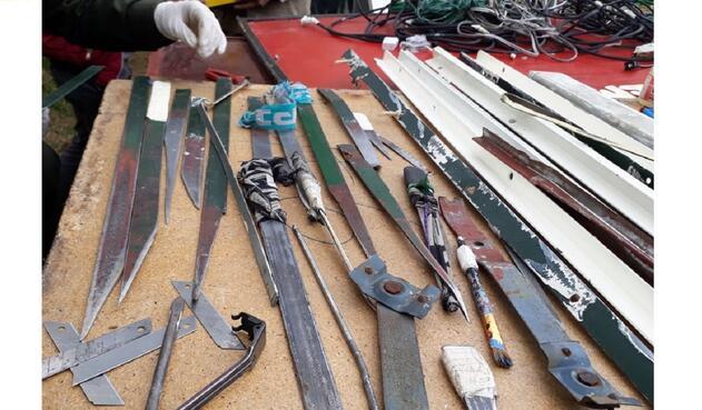 De manera artesanal eran fabricadas armas blancas en Centros de Detención Adolescente