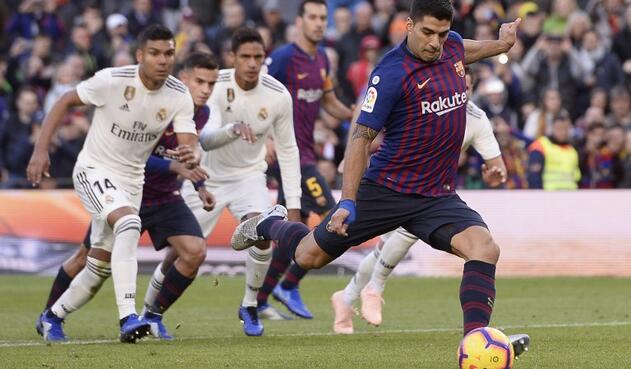 036f48dfcea5b Luis Suárez cobrando el penal para el 2-0 parcial ante el Real Madrid en