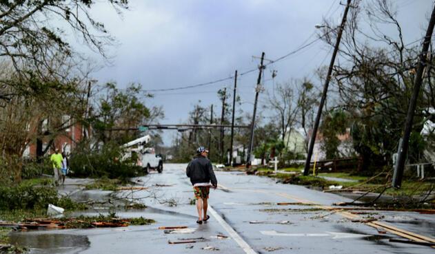 Estragos de huracán Michael en Florida