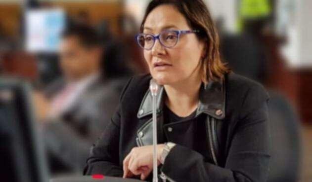 La concejal Ángela Garzón
