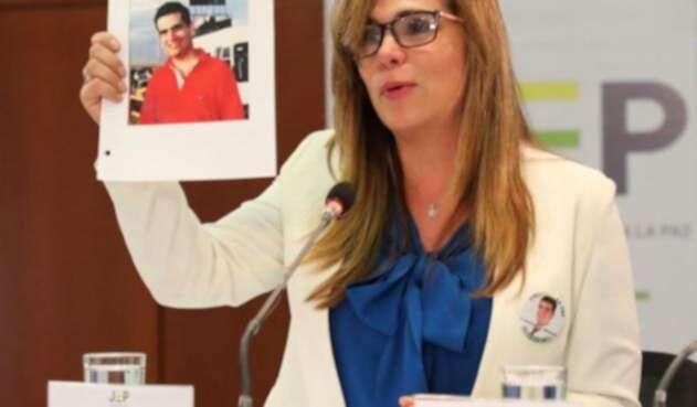 Ángela Giraldo en la JEP
