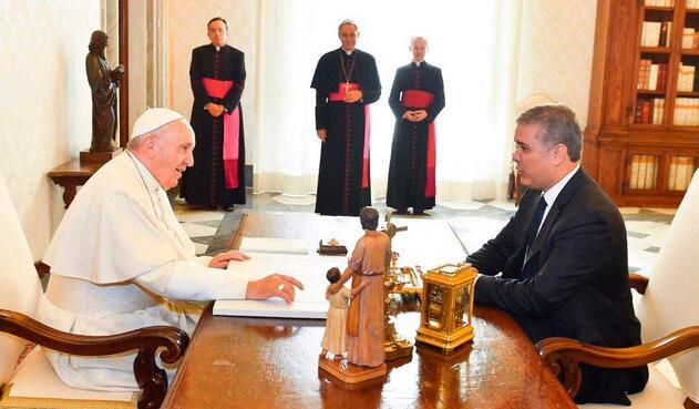 Iván Duque tiene una audiencia con el Papa Francisco