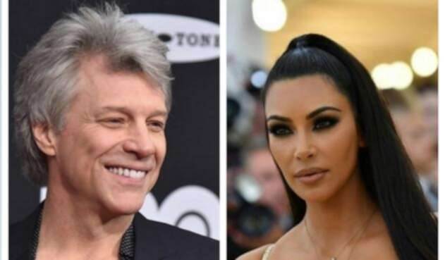 Jon Bon Jovi y Kim Kardashian