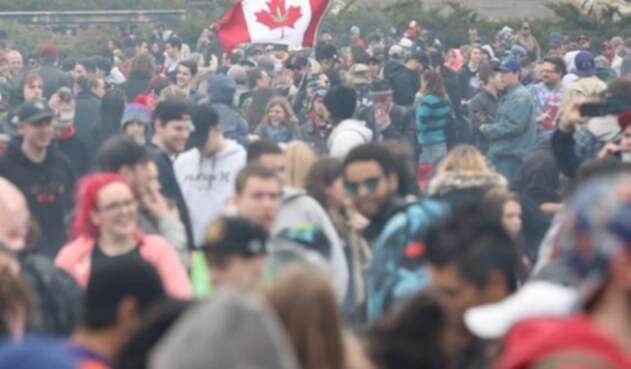 Consumidores de marihuana en Canadá
