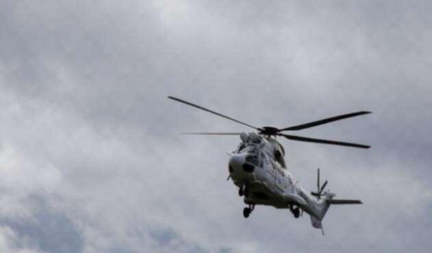 Accidente helicóptero.