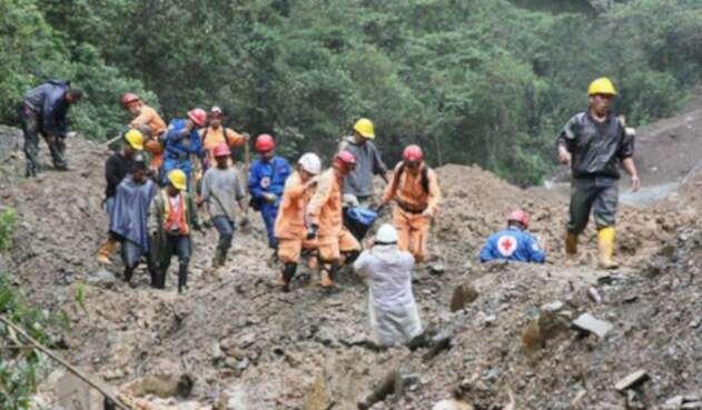 Deslizamiento de tierra en Barrancabermeja