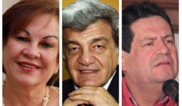 Consuelo González de Perdomo, Jorge Eduardo Gechem y Orlando Beltrán