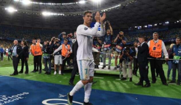 Cristiano Ronaldo, el 26 de mayo de 2018 en Kiev, tras vencer a Liverpool y alzar la Champions con el Real Madrid