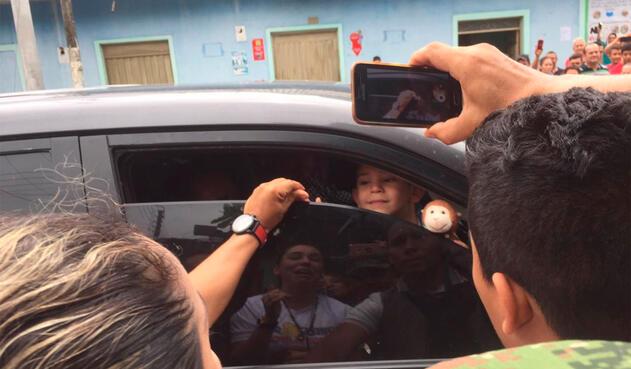 Cristo José Contreras llegando a Guamalito