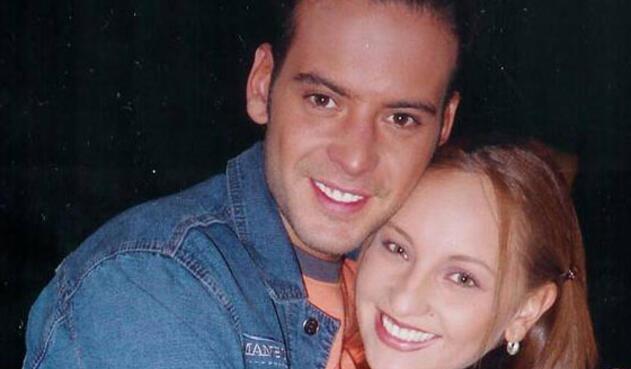 Ana Victoria Beltrán en compañía de Diego Cadavid