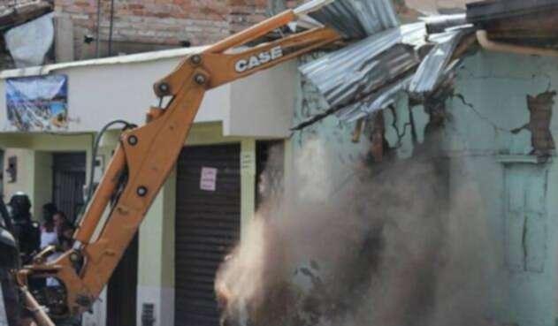 Foto referencial de demoliciones