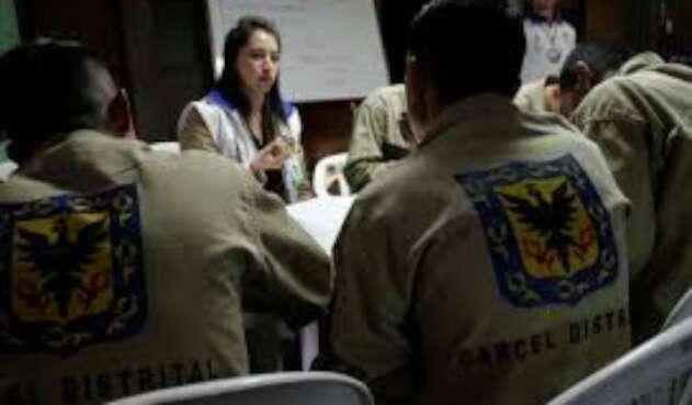Detenidos cárcel distrital de Bogotá