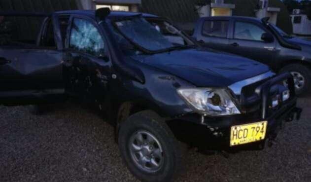 Vehículos del Ejército atacados por parte de las comunidades en el Catatumbo