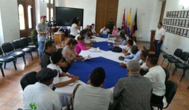Reunión entre cocaleros y Autoridades en Norte de Santander buscando acercamientos con el Gobierno Nacional y reactivar la MIA Catatumbo