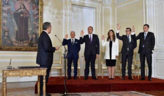 Iván Duque posesionó a nuevos magistrados de las altas cortes.