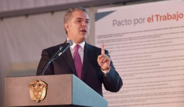 Presidente colombiano, Iván Duque Márquez.