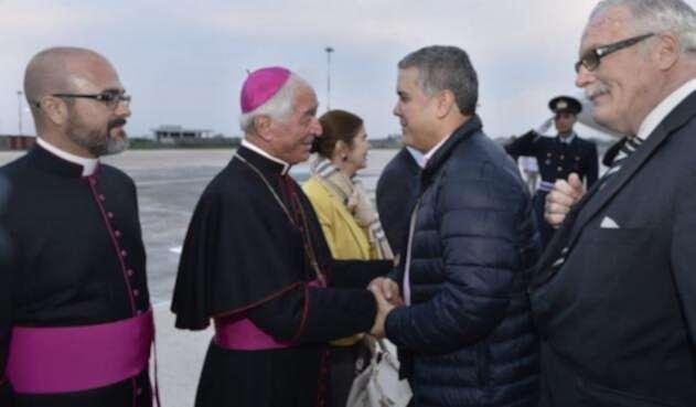 Presidente Iván Duque llega a Roma
