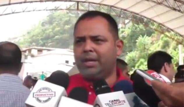 Edwin Contreras, alcalde del municipio de El Carmen, en Norte de Santander
