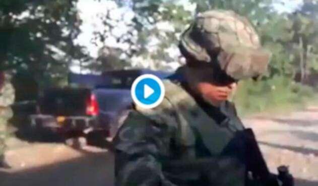 Los uniformados presuntamente atacados en Tibú (Norte de Santander)