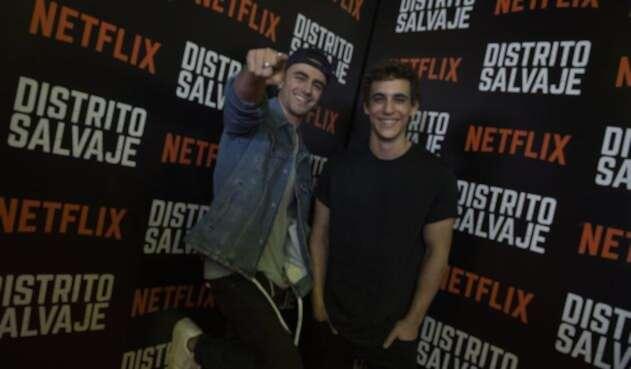 Itzan Escamilla y Miguel Herrán actores de la serie Élite