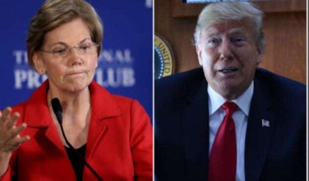 Elizabeth Warren y Donald Trump, enfrentados por raíces nativas