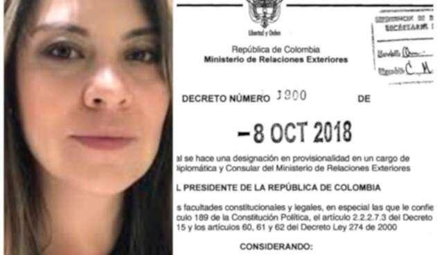 Erika Salamanca, tuitera nombrada como cónsul de Colombia en Washington