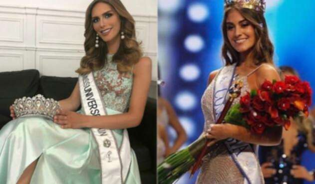 Miss España y Miss Colombia