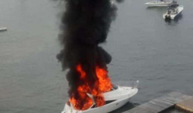 Explosión en un yate de Cartagena