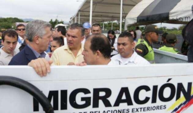 Filippo Grandi en su visita a Cúcuta