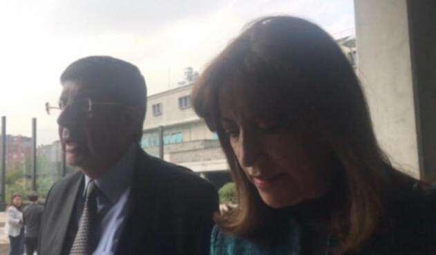 Martha Lucia Zamora en interrogatorio ante la Fiscalía