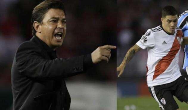 Marcelo Gallardo regaña a Juan Fernando Quinero