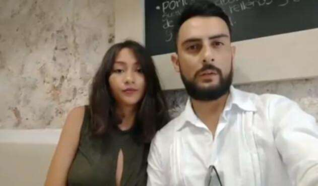 Gustavo Rugeles y su novia